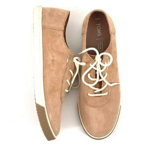 NEW Toms Carmel Suede Sand Pink Sneakers